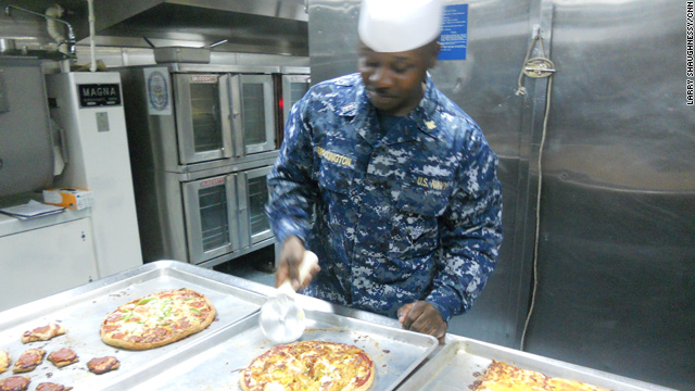 Navy chef has captive clientele