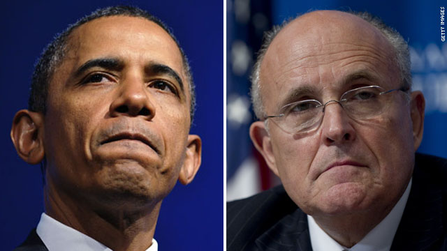 Obama, Giuliani discuss American safety in weekly addresses