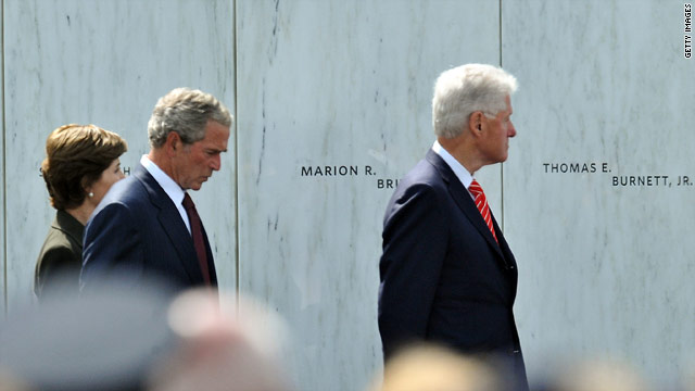 Bush, Clinton speak at memorial for Flight 93