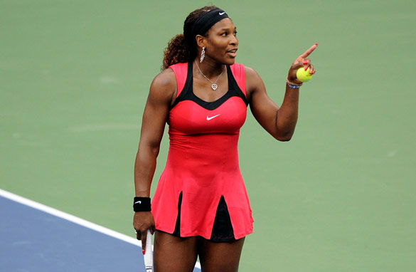 Serena Williams was furious after being penalized during the U.S. Open women's final on Sunday. (Getty Images)