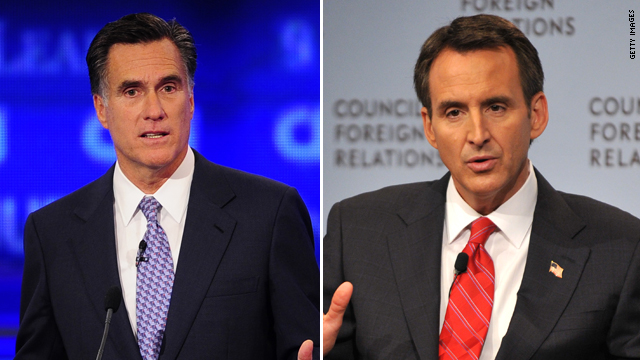Pawlenty to be Romney&#039;s guest at CNN Tea Party Debate