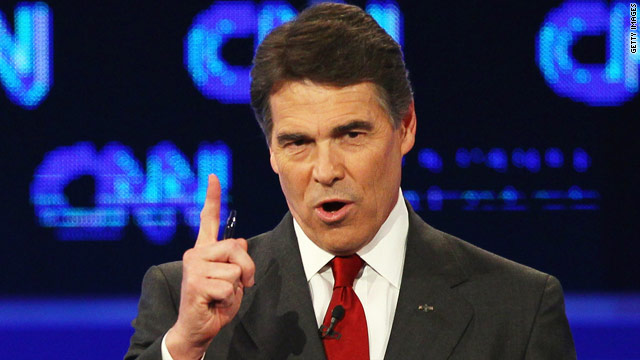 Perry comes under fire at the CNN/Tea Party debate