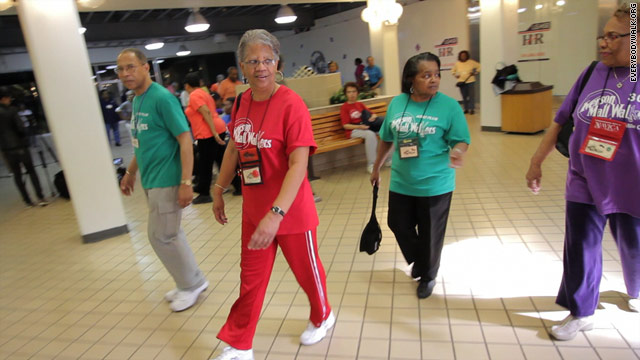 Mall walkers lose weight, get healthy