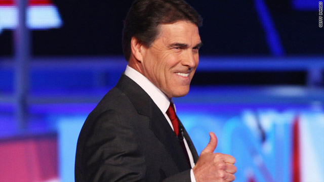 Perry still smiling after rough-and-tumble debate