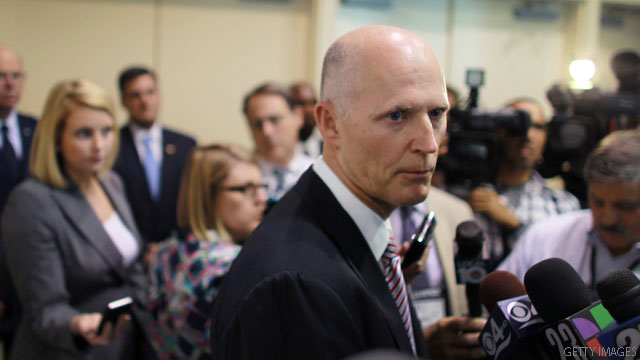 Gov. Scott&#039;s high on Perry and Romney