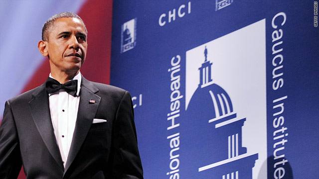 Obama takes jobs push to Congressional Hispanic Caucus