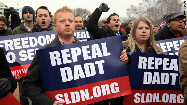 Repeal of 'don't ask, don't tell' is on track for Tuesday