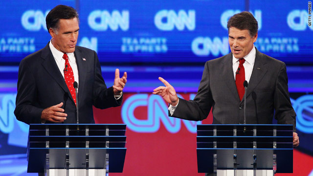 New week, same Perry-Romney battle