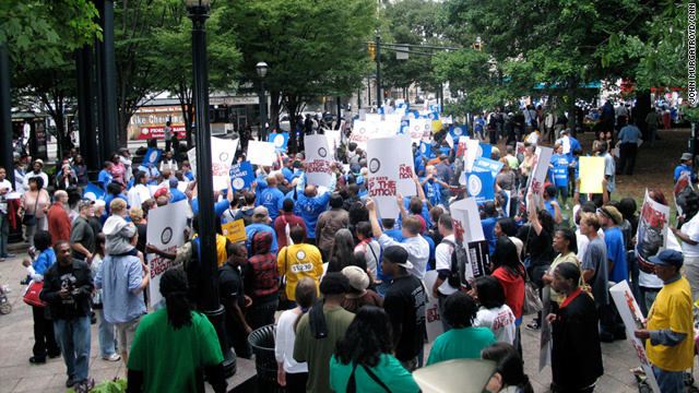 Condemned man's supporters rally in Atlanta
