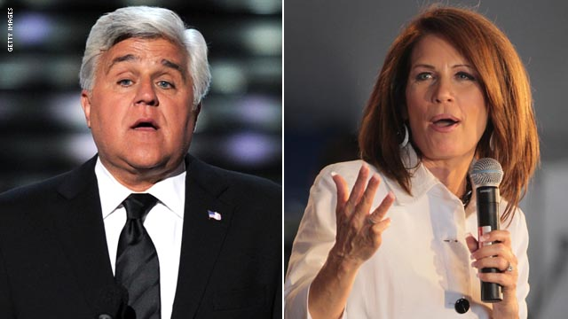 Leno questions Bachmann over gay rights, HPV vaccine