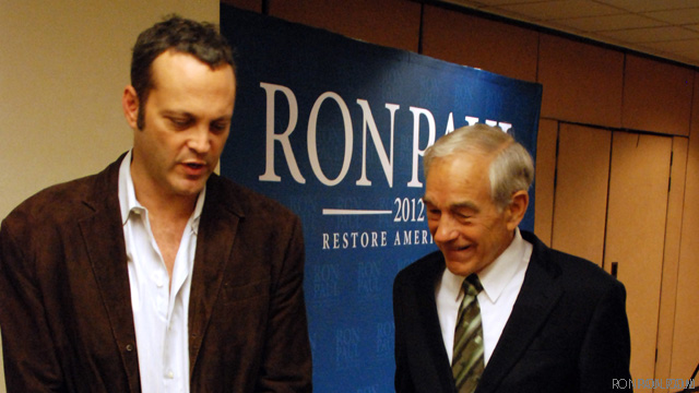 Vince Vaughn hearts Ron Paul