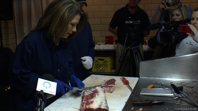 Bachmann serves up irresistible 'red meat' headline