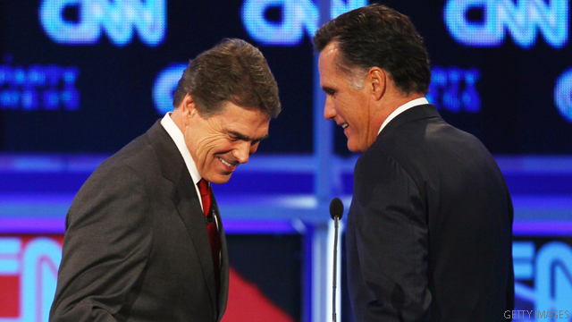 CNN Poll: Perry still at top but Romney stronger vs. Obama