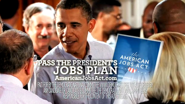 New Dem ad pushes jobs plan