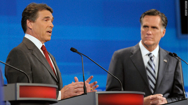 Perry is focus of attention, attacks at Florida debate