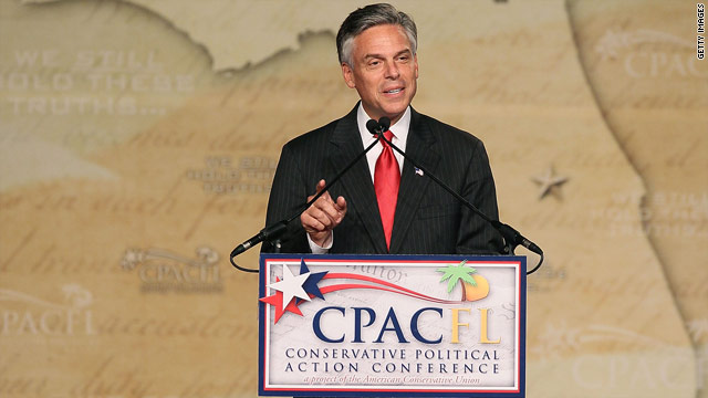 Addressing conservatives, Huntsman calls for big tent GOP