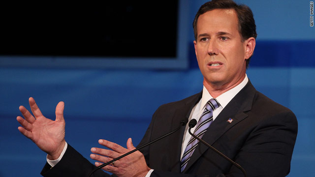 Santorum: 'I condemn' booing of gay soldier, didn't hear it