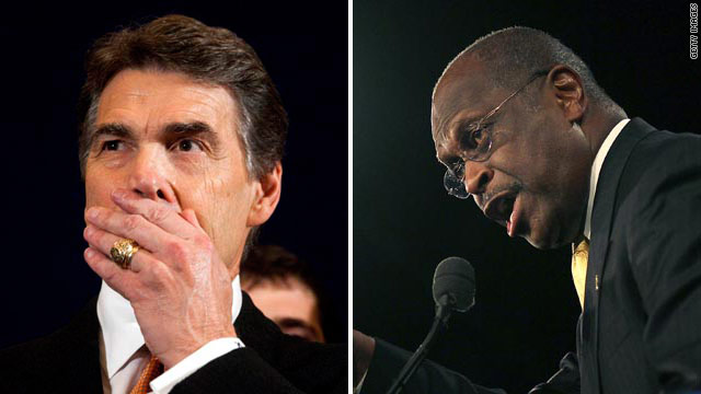 Cain upsets Perry as winner of Florida straw poll