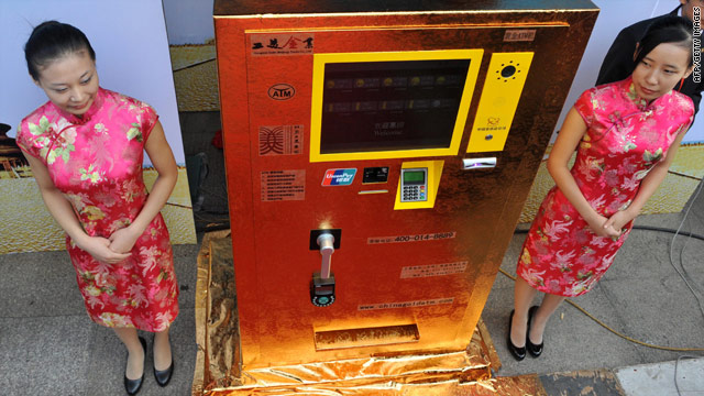 Los chinos ya pueden sacar oro… de los cajeros automáticos
