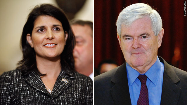 Gingrich to stay at South Carolina governor's mansion