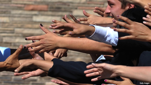 Picture of the week: Reach out and touch the President