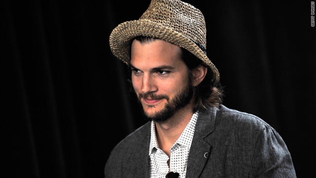 Ashton Kutcher plugs tech companies on 'Men'