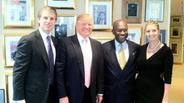 Cain meets Trump