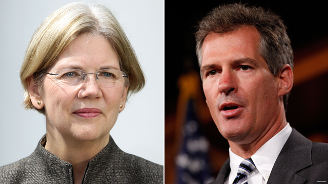 Leading candidates even in Mass. Senate race