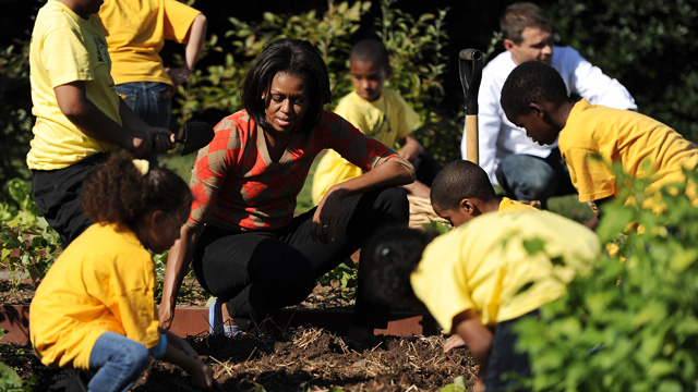Michelle Obama's White House harvest