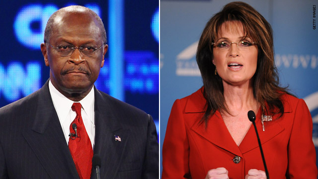 Cain jabs Palin again over 'flavor the week' comment