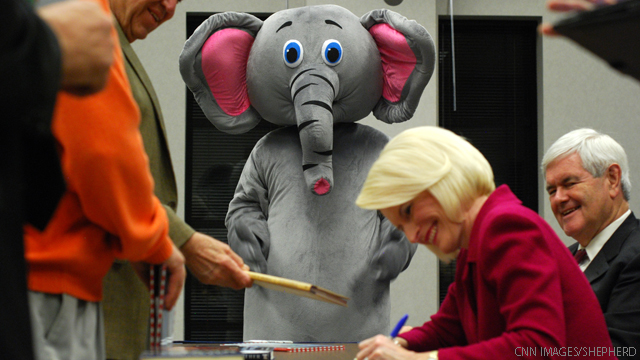 Newt Gingrich's elephant in the room