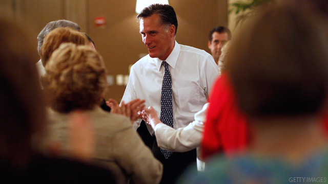 Romney shows softer side but keeps up attacks on Obama, Gingrich