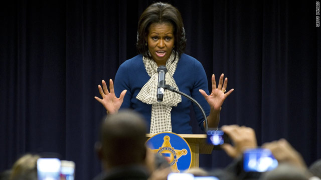 Michelle Obama jokes daughters fight over Secret Service