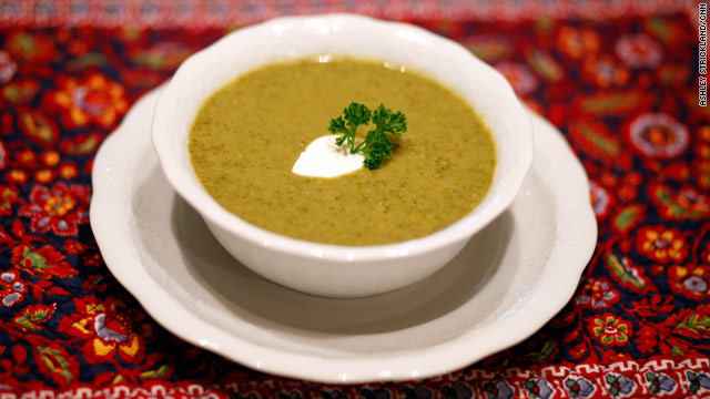 Green soup to fight the office funk