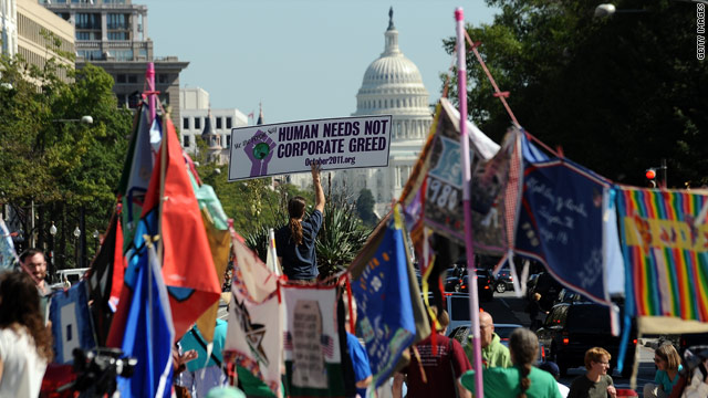 Hundreds in Washington decry U.S.-led wars, economic woes