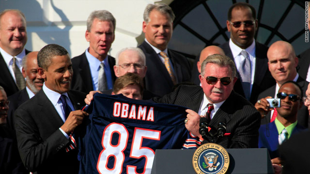 Da Bears at Da White House