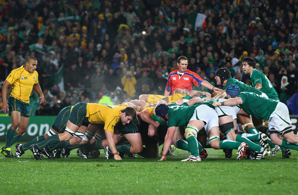 Ireland's victory over Australia in the pool stage has caused a north-south divide in the last eight of the World Cup.