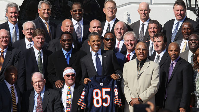 Over 26 years later, Super Bowl champion Bears honored at White House