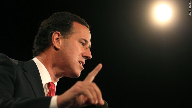 Santorum buries hatchet with Romney in high-profile event