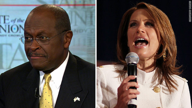 Bachmann, Cain duck question on Romney's faith