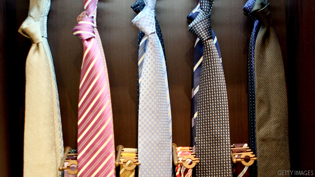 Voters bid on the ties off candidates' necks