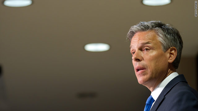 Huntsman accuses Romney of soundbite foreign policy