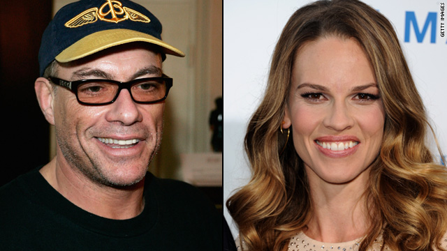 Van Damme, Hilary Swank criticized for attending Chechen leader's party