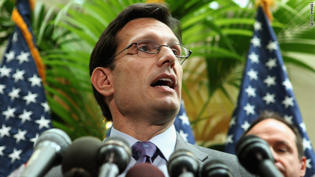 Cantor accuses Obama, Democrats of supporting a 'tax hike'