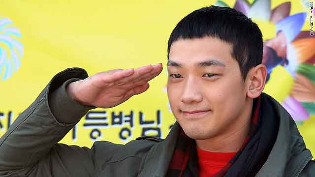 South Korean pop star Rain begins mandatory military service