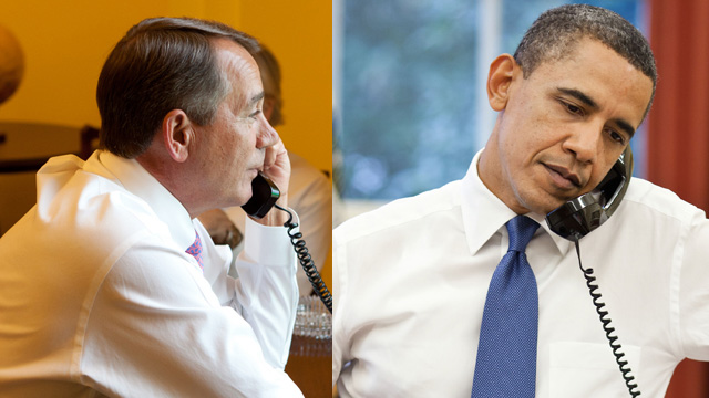 Speaker Boehner pushes back over the phone