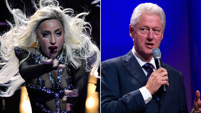 Clinton hearts Gaga