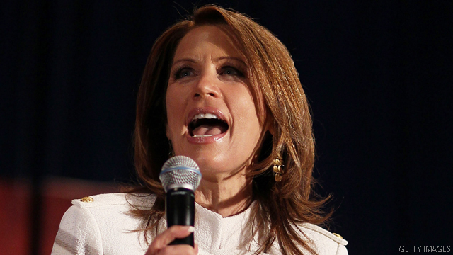Bachmann dines with Trump, espouses campaign optimism