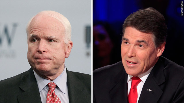 McCain to Perry: Get some rest