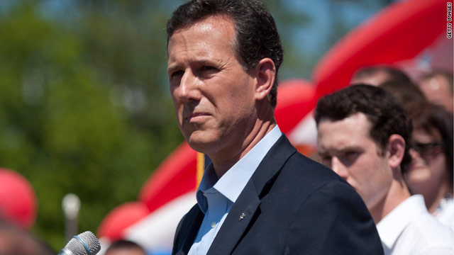Santorum returns to Iowa, but not for Romney